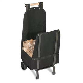 Pictured here is the Heavy Duty Black Canvas Liner for Wood Cart by Pilgrim