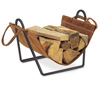 Pictured here is the the Traditions Suede Leather Log Carrier and Stand from Pilgrim.