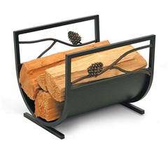 Wrought Iron Artisan Pine Cone Fireplace Wood Holder by Pilgrim