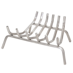 Pictured here is the Stainless Steel Fireplace Log Grate available in 4 widths.