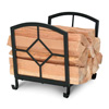 Wrought Iron Art Nouveau Fireplace Wood Holder by Napa Forge