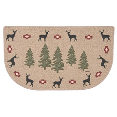 Wrought Iron Deer With Trees Fireplace Berber Rug by Napa Forge