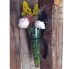 Pictured here is the Scroll Wall Flower Glass Vase from Mathews and Company