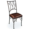 Pictured is our South Fork Dining Side Chair, hand-forged by artisan blacksmiths.