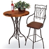 "Wrought Iron South Fork 40"" Bar Table by Mathews & Co."