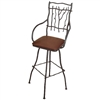 "Wrought Iron South Fork 25"" Counter Stool W/ 14"" Square Seat by Mathews & Co."