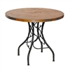 Copper South Fork Bistro Table with Wrought Iron Base by Mathews & Co.