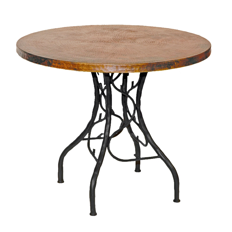 Antique Round Copper Coffee Table: Rustic Wrought Iron South Fork Bistro Table With 36in