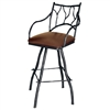 "Pictured is our Large South Fork Branch 25"" Swivel Counter Stool with Arms, hand-forged by artisan blacksmiths."