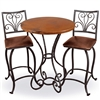 "Pictured here is the Alexander 40"" Bar Table with 30"" Round Top hand crafted by skilled artisan blacksmiths."