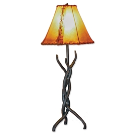Pictured is our Contemporary/Transitional style wrought iron Woodland Table Lamp hand-made by Mathews & Co.