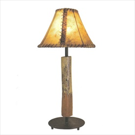 Pictured is our Contemporary style Santa Fe Table Lamp hand-made by Mathews & Co.