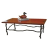 "Pictured here is the South Fork Cocktail Table with 50"" x 30"" Top hand crafted by skilled artisan blacksmiths."