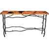 Wrought Iron South Fork Console Table by Mathews & Co.