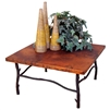 "Pictured here is the South Fork Coffee Table with 36"" Square Top hand crafted by skilled artisan blacksmiths."