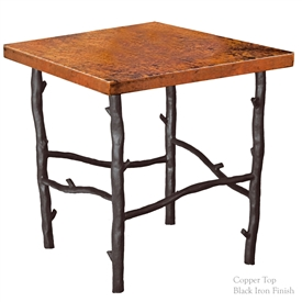 Wrought Iron South Fork End Table by Mathews & Co.