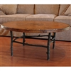 "Pictured here is the South Fork Coffee Table with 42"" Round Top hand crafted by skilled artisan blacksmiths."