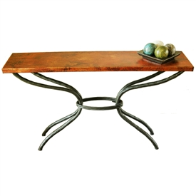 Wrought Iron Woodland Console Table by Mathews & Company