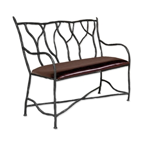 Pictured is our South Fork Bench, hand-forged by artisan blacksmiths.