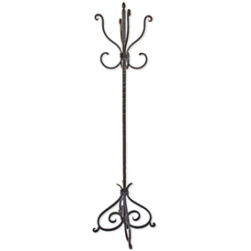 Wrought Iron Alexander Standing Coat Rack by Mathews & Co.