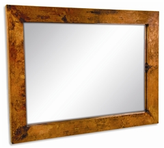 Pictured here is the Large Rectangle Copper Mirror from Mathews and Company