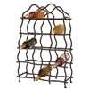 Pictured here is the Wrought Iron South Fork 14-Bottle Wine Rack by Mathews & Co.