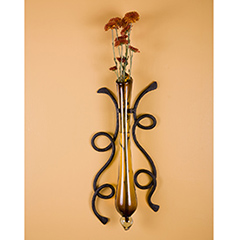 Wrought Iron Vine Wall Sconce, Small by Mathews & Co.
