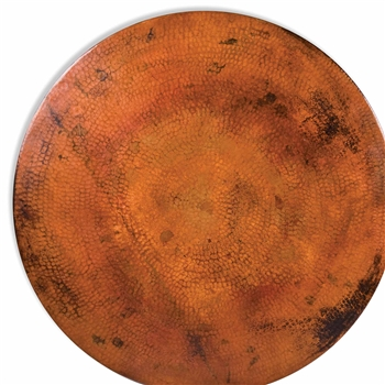 "These Round Copper Tops are Hand-Hammered with a natural copper patina and available in diameters from 30"" to 84"""