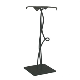 "Pictured here is the 30"" Vine Accent Table hand crafted by skilled artisan blacksmiths."