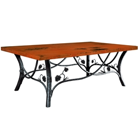 Wrought Iron Piney Woods Cocktail Table by Mathews & Co.