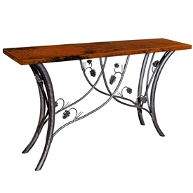 Wrought Iron Piney Woods Console Table by Mathews & Co.