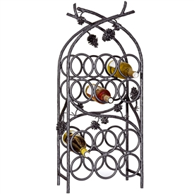 Wrought Iron Piney Woods 12-Bottle Wine Rack by Mathews & Co.