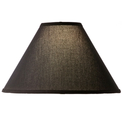 Natural Black Linen Floor Lamp Shade 18""