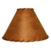 Rawhide Table Lamp Shade w/Leather Trim 18""