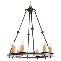 Nova Chandelier 8 Light w/ Candle Drip Cover