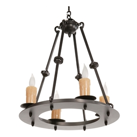 Nova Chandelier 4 Light w/ Candle Drip Cover