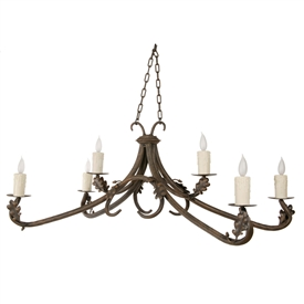 Oakdale Chandelier 6-Arm w/ Candle Drip Cover