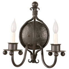 Williamsburg Wall Sconce w/ Candle Drip Cover
