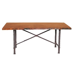 Pictured here is the Burlington Dining Table Base Only hand crafted by skilled artisan blacksmiths.