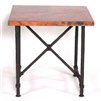 "Pictured here is the Burlington End Table with a 24"" Square Top, all hand-crafted by skilled artisan blacksmiths."