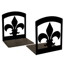 Wrought Iron Fleur-de-lis Book Ends by VWI