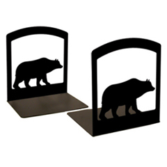 Wrought Iron Bear Book Ends