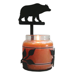 Wrought Iron Bear Large Jar Sconce