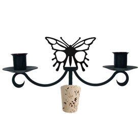 Wrought Iron Butterfly Wine Bottle Topper