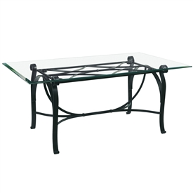 Pictured is the Camino Dining Table with custom iron finish and top options for you to choose. Comfortably seats 8
