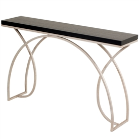 "Pictured is the Wrought Iron Monarch 55"" Console made by Charleston Forge, sold at Timeless Wrought Iron online."