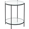 Pictured here is the forged iron Oculus End Table available in numerous fine iron finishes and table tops to choose from.