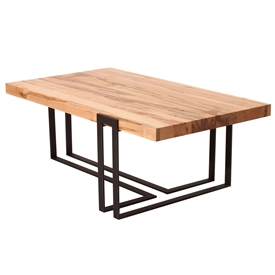 Watson Cocktail Table With Modern Hand-Made Iron Base and a Variety of Hand-Made Wood Tops