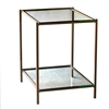 Pictured here is the forged iron Covina End Table available in numerous fine iron finishes and table tops to choose from.