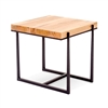Pictured here is the forged iron Cooper End Table available in numerous fine iron finishes and table tops to choose from.